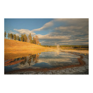Landscape of Yellowstone Wood Wall Art
