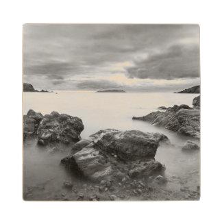 Landscape on West Shetland Wood Coaster