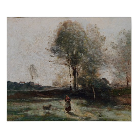 Landscape or, Morning in the Field Poster