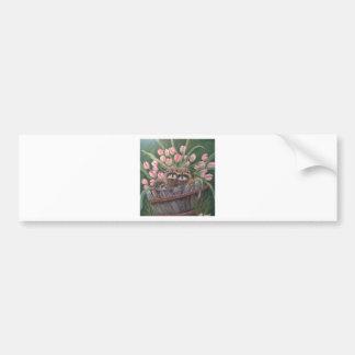 landscape paint painting hand art nature Racoons Bumper Sticker