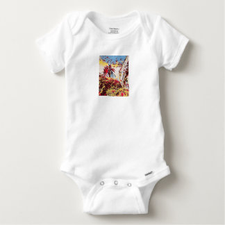 LANDSCAPE PAINTING SOUTH SPAIN BABY ONESIE