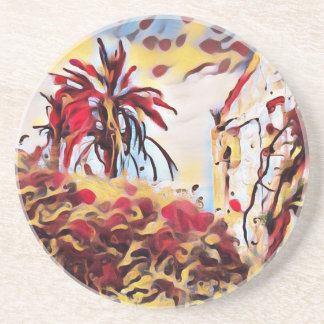 LANDSCAPE PAINTING SOUTH SPAIN COASTER