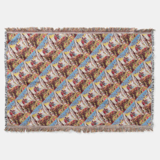 LANDSCAPE PAINTING SOUTH SPAIN THROW BLANKET