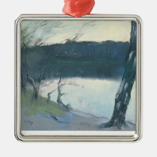 Landscape (pastel on canvas) christmas ornament