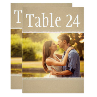 Landscape Photo Table Number Cards   Kraft Paper 13 Cm X 18 Cm Invitation Card
