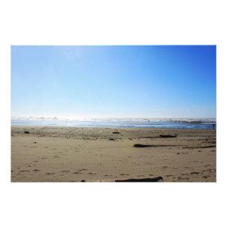 Landscape photography of sea, sand beach, blue sky photograph