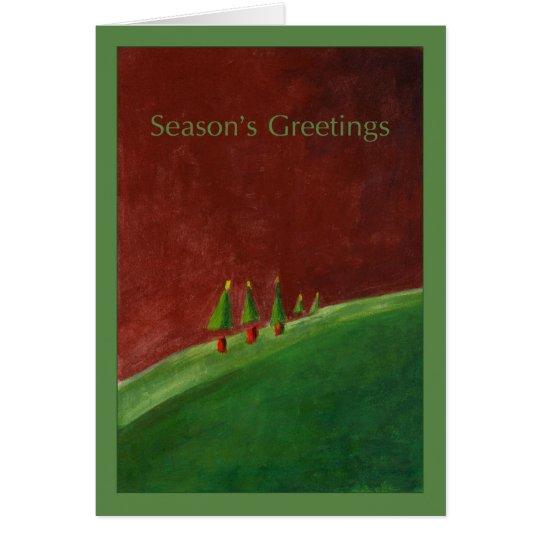 Landscape Seasons Greetings Card