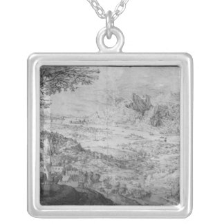 Landscape Silver Plated Necklace