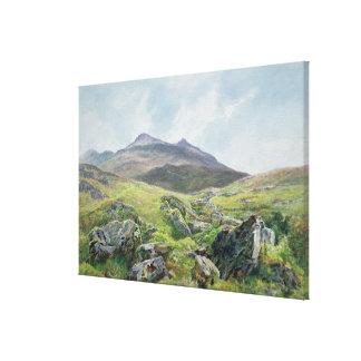 Landscape, Snowdon Canvas Print