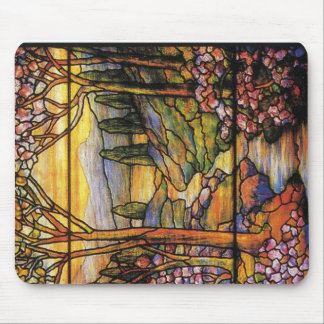Landscape Stained Glass Art Mouse Mat