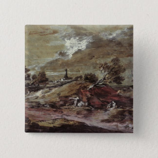 Landscape: Storm Effect, 18th century 15 Cm Square Badge
