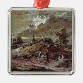 Landscape: Storm Effect, 18th century Christmas Ornament