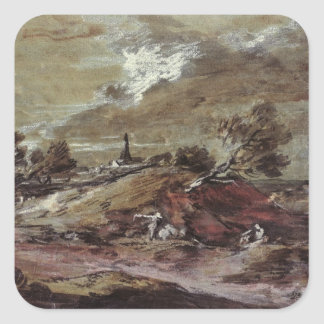 Landscape: Storm Effect, 18th century Square Sticker