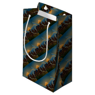 Landscape sunset small gift bag