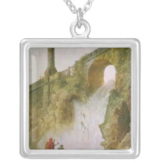 Landscape, The Waterfall Silver Plated Necklace