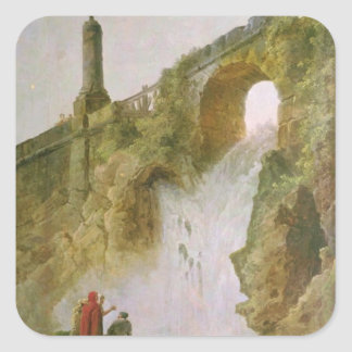 Landscape, The Waterfall Square Sticker