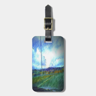Landscape view luggage tag