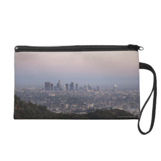 Landscape view of skyscrapers, Los Angeles Wristlet