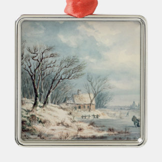 Landscape: Winter Christmas Ornament