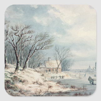 Landscape: Winter Square Sticker