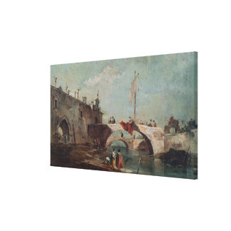 Landscape with a Canal Canvas Print