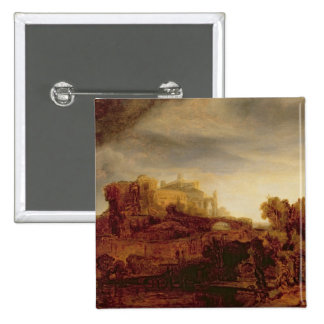 Landscape with a Chateau Pinback Buttons