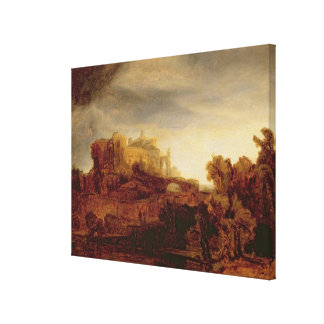 Landscape with a Chateau Canvas Print