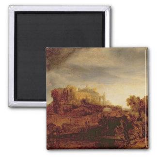 Landscape with a Chateau Magnet