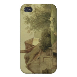 Landscape with a cottage iPhone 4/4S covers