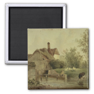 Landscape with a cottage magnets