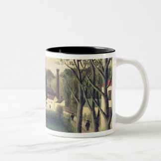 Landscape with a Fisherman, after 1886 Two-Tone Coffee Mug