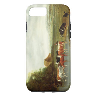 Landscape with a Herdsman and Cattle (oil on canva iPhone 8/7 Case