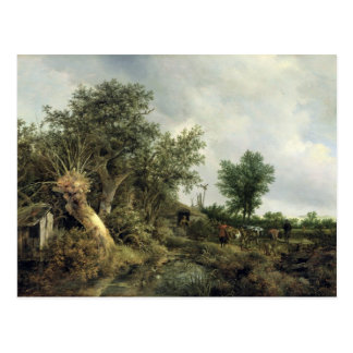 Landscape with a Hut, 1646 Post Card