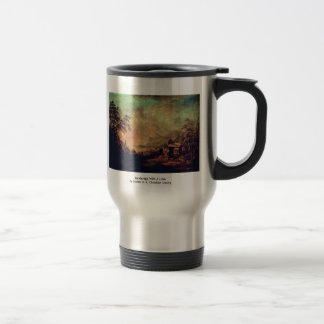 Landscape With A Lake Stainless Steel Travel Mug