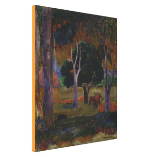 Landscape With a Pig and a Horse by Paul Gauguin Canvas Print
