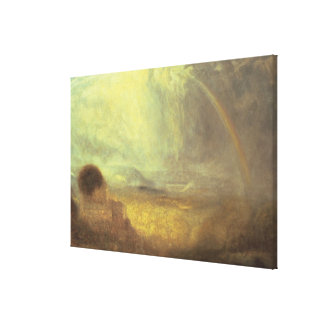 Landscape with a rainbow canvas print