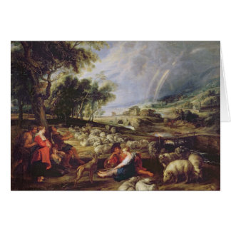 Landscape with a Rainbow Card