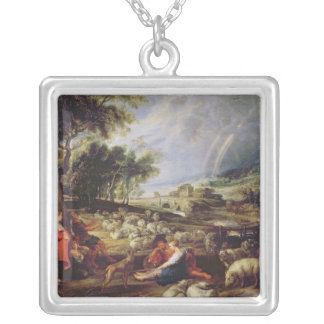 Landscape with a Rainbow Silver Plated Necklace