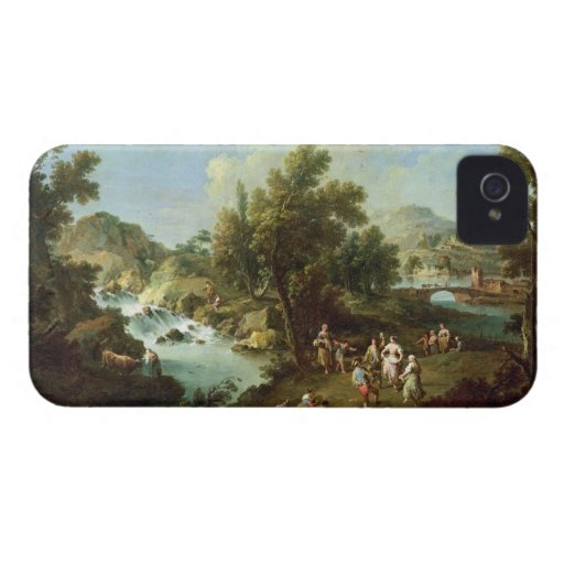 Landscape with a River and Dancing Peasants (oil o iPhone 4 Cases
