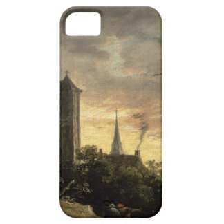 Landscape with a Tower (oil on canvas) Barely There iPhone 5 Case
