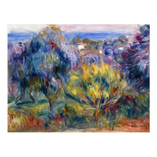 Landscape with a View of the Sea by Pierre Renoir Postcard