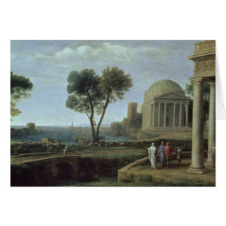 Landscape with Aeneas at Delos, 1672 Card