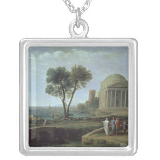 Landscape with Aeneas at Delos, 1672 Silver Plated Necklace