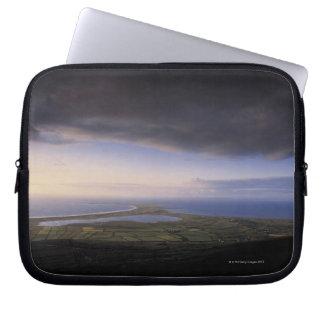 landscape with an overcast sky computer sleeve