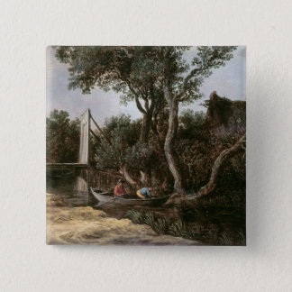 Landscape with Bridge, c.1628 15 Cm Square Badge