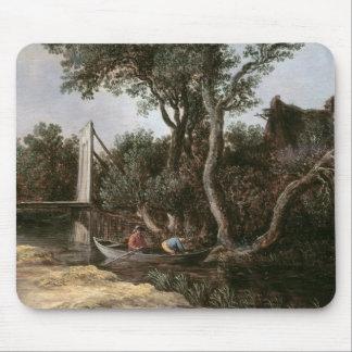 Landscape with Bridge, c.1628 Mouse Mat