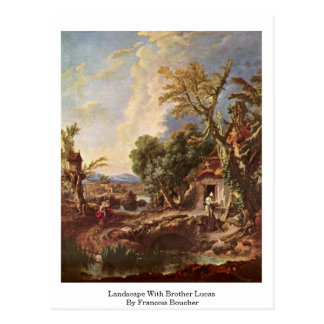 Landscape With Brother Lucas By Francois Boucher Postcard