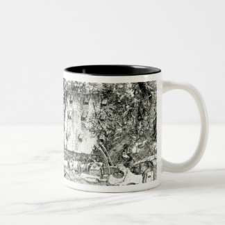 Landscape with Cannon, 1518 Two-Tone Coffee Mug