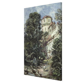 Landscape, with Castle and Trees Canvas Print