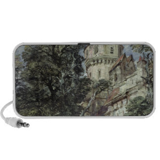 Landscape, with Castle and Trees Laptop Speaker